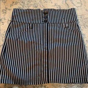 High Waisted Stripped Skirt